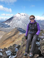 Audrey sur le Tongariro Alpine Crossing