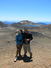 Thierry et Catherine au Tongariro Crossing