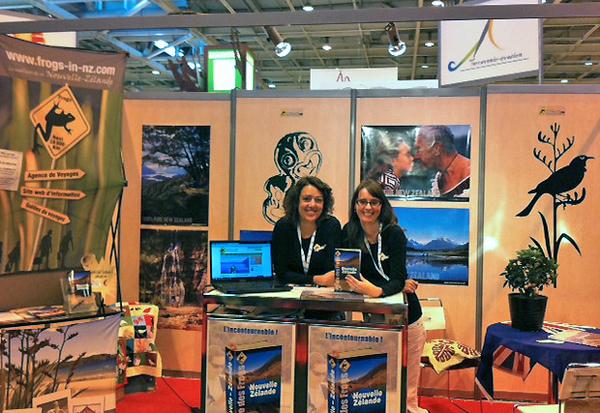 M lanie et carole au salon mondial du tourisme frogs in nz for Salon du tourisme belgique