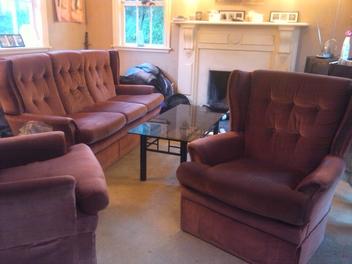 vends canape 3 places et fauteuils assortis frogs in nz. Black Bedroom Furniture Sets. Home Design Ideas